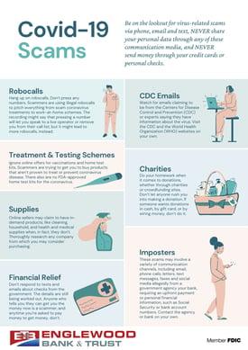 EBT CVD19 Scams Infographic